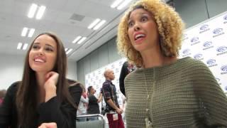 WonderCon 2014 - Star-Crossed Press Room - Chelsea Gilligan & Victoria Platt