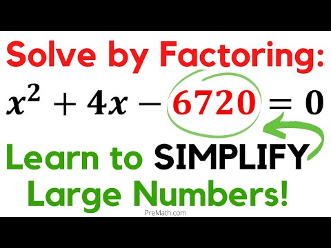 How to Solve Quadratic Equations when Constant Value is a Large Number - Use the Factoring Method!