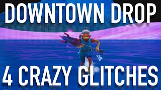 4 CRAZY DOWNTOWN DROP GLITCHES - Fortnite Season 9 Glitches Complete Weekly Challenges QUICK!