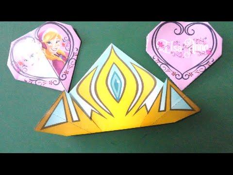 達?蔵達??辿?捉 達??達?贈達?蔵達?息達?速脱??達??巽卒? Frozen Tiara Origami - YouTube