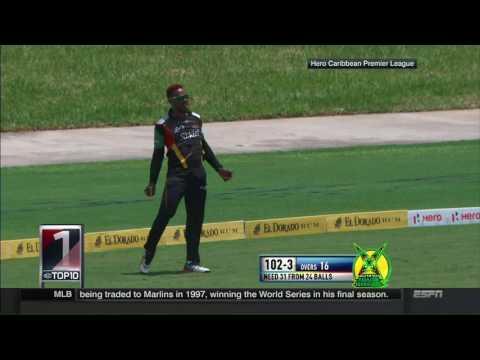 Fabian Allen takes a screamer in the Caribbean Premier League