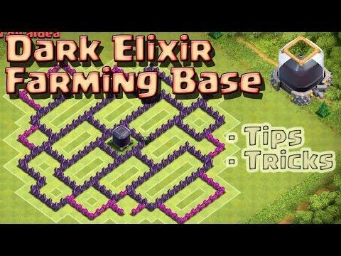 Clash of Clans - Dunkles Elixir Farming Base Rathaus 8 mit Erklärung [Deutsch]