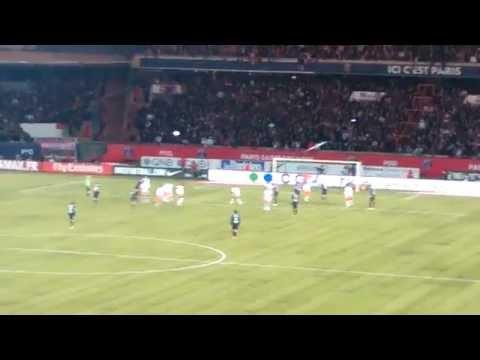 Alex coup franc face a Montpellier! PSG 2-2 MHSC