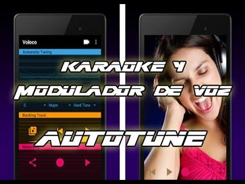 Karaoke + Modulador de voz (Autotune) Gratis para Android