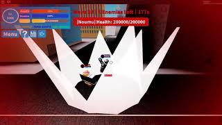 Boku no roblox winning solo raid with overhaul!