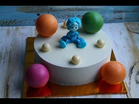 Воздушные шарики для торта из желатина
