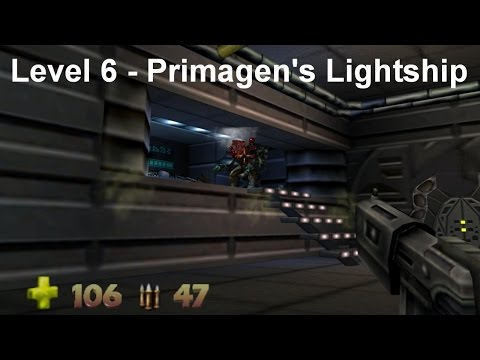 Turok 2 - Seed of Evil: Level 6 - Primagen's Lightship (Speedrun) [4K]