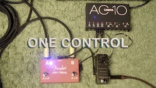 One Control Anodized Brown Distortion - Fender ABY Pedal