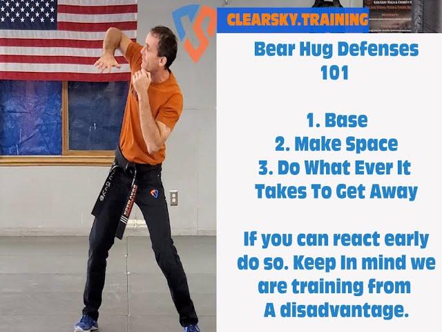 Bear Hug Defense At Home Practice | Krav Maga