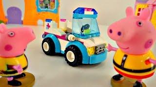 Видео для детей. Свинка Пеппа: машинка из конструктора. Мультик с игрушками(Свинка Пеппа и Джордж готовят подарок для папы Свина -- великолепный конструктор, из которого стараниями..., 2016-01-19T14:35:55.000Z)
