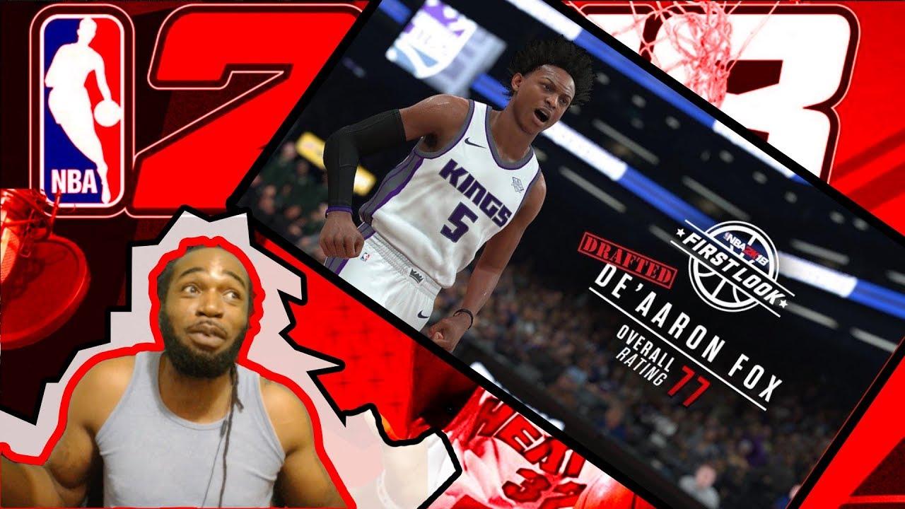 NBA 2K18 DE'AARON FOX OVERALL RATINGS AND SCREEN SHOTS ...