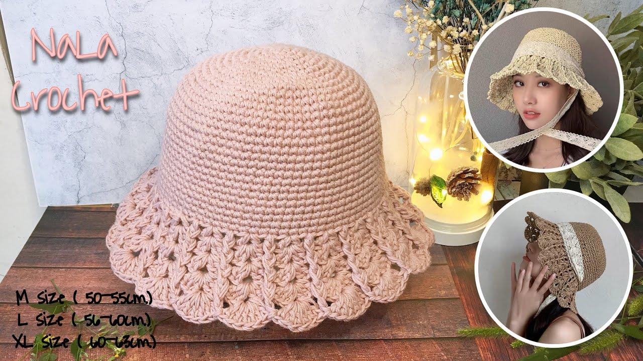 Crochet bucket hat #ถักหมวกบักเก็ต#ถักหมวกไหมพรม