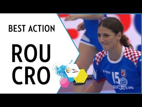 Penezic power at its best | Romania vs Croatia | EHF EURO 2016