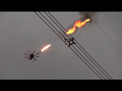 Thumbnail: Flame Throwing Drone Helps Remove Net on UHV Power Line