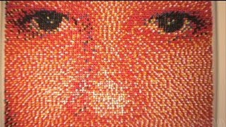 Portrait Made of 15,000 Push Pins!