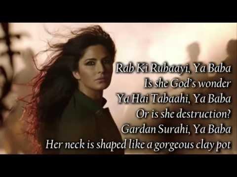 Afghan Jalebi (Ya Baba) Phantom 2015  SONG LYRICS WITH ENGLISH TRANSLATION