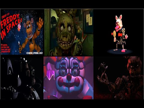 Todos los trailers de Five nights at Freddy's (1,2,3,4,57,W,SL)