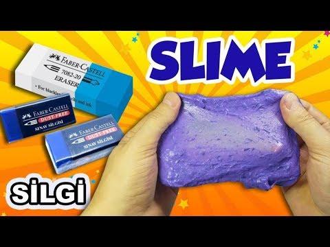 SİLGİ SLIME NASIL YAPILIR - Silgi Slime Yapımı - Slaym -  Slimeden Silgi - HOPPİTV -  Okula Dönüş