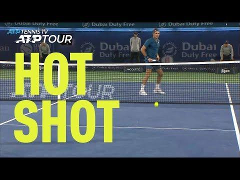Hot Shot: Federer's Stunning Drop Volley In 2019 Dubai Final