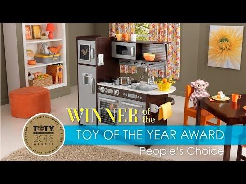 children's uptown espresso play kitchen - toy review - youtube