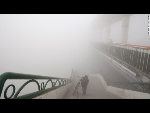 China capital Beijing Again shrouded with thick fog smog smoggy city heavy polluted hit North China