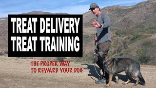 Treat Training Your Dog - How to Reward with Treats and not get BIT - Robert Cabral Dog Training