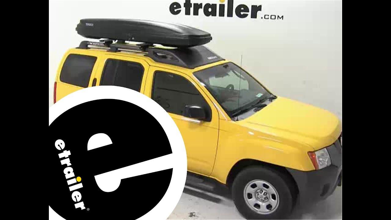 Thule Pulse Alpine Rooftop Cargo Box Review   2008 Nissan Xterra    Etrailer.com