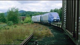 Rare Amtrak Acela final assembly point Barre and Montpelier, Vt. Sept. 2000