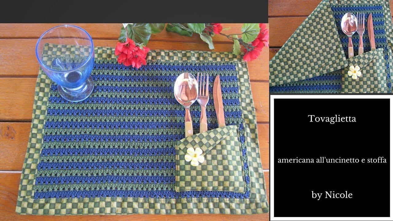 Tutorial Tovaglietta Americana Alluncinetto E Stoffa Crochet