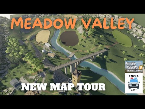 """Meadow Valley"" New Mod Map Tour in Farming Simulator 19"