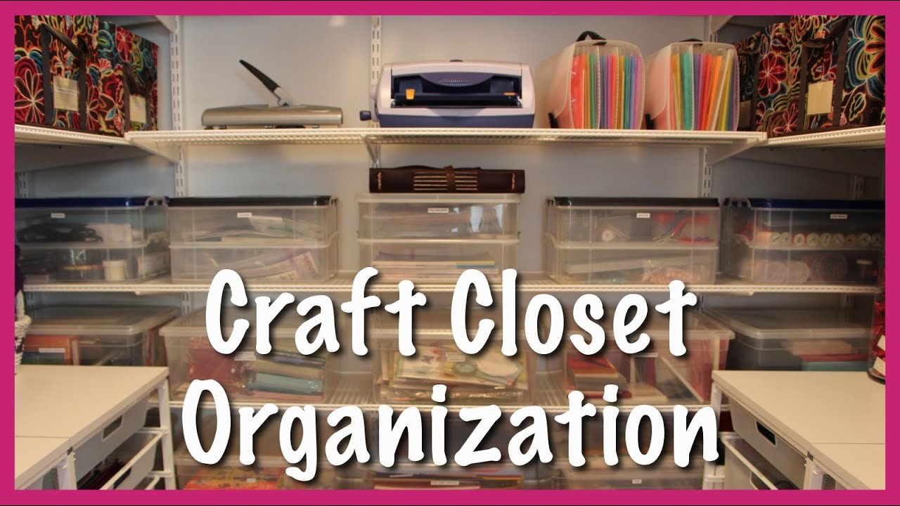 Craft Closet Organization Ideas Part - 20: Craft Closet Organization - YouTube