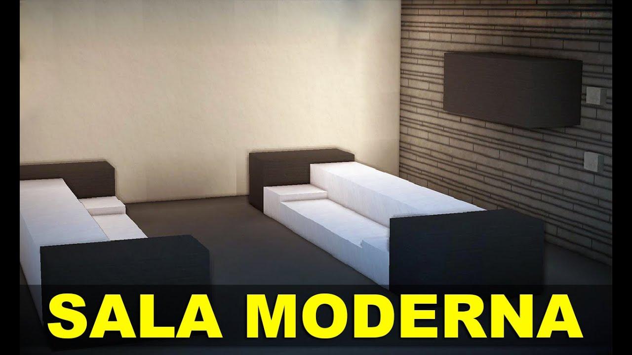 Minecraft Cmodos e Mveis Sala Moderna  YouTube