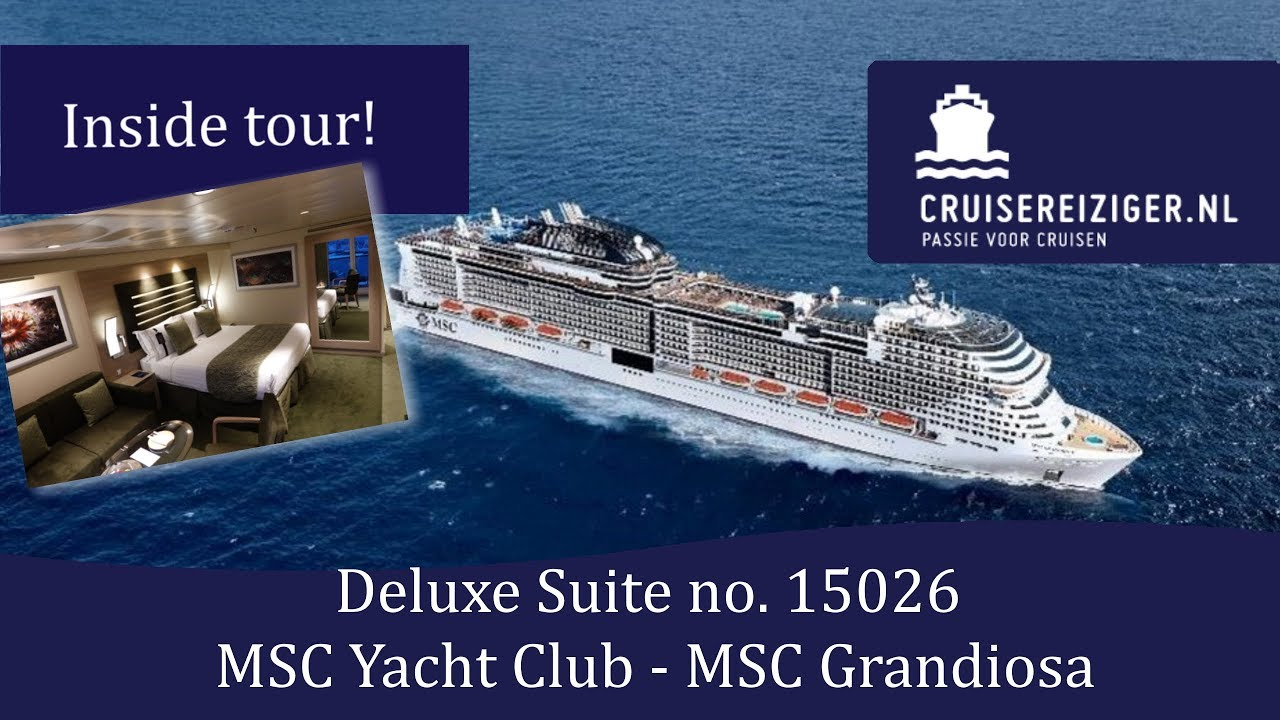 Deluxe suite in MSC Yacht Club - MSC Grandiosa - YouTube