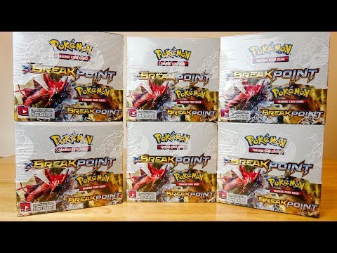 Opening 6 Pokemon Breakpoint Booster Boxes