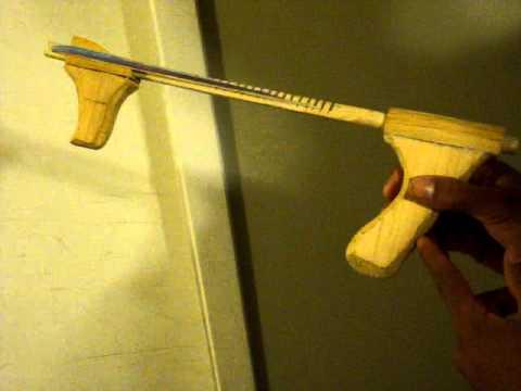how to make an elastic band gun