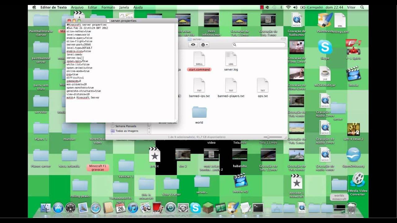 Como fazer minecraft server MAC- Melhor do youtube
