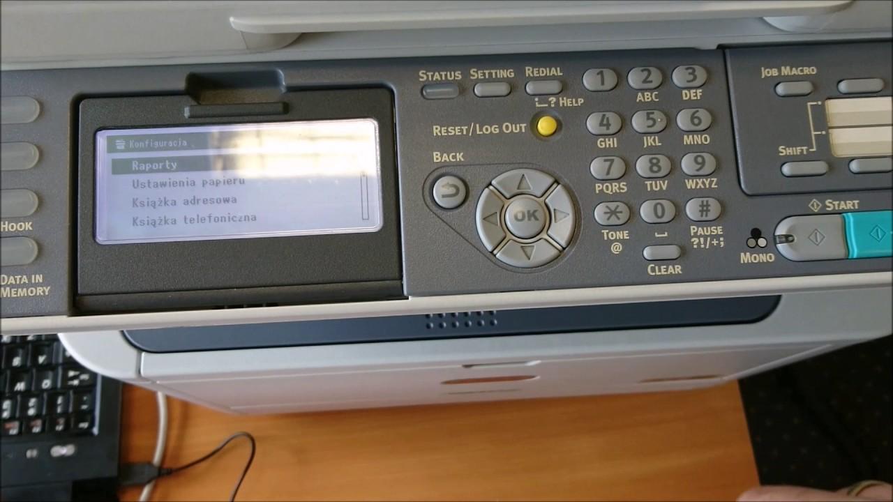 Printer OKI MB471W service mode mainentenance
