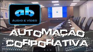 AB ÁUDIO E VÍDEO - AUTOMAÇÃO CRESTRON - SALA DE REUNIÕES - PARANAGUÁ