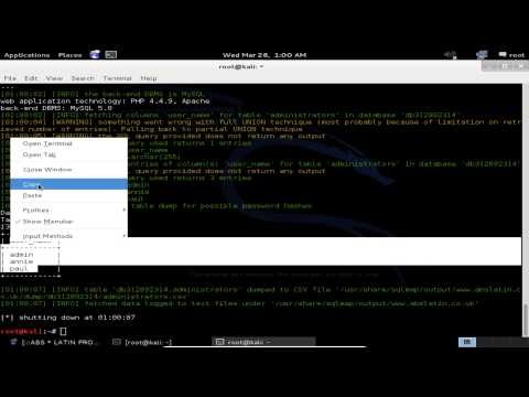 SQL Injection con Sqlmap (Kali Linux) - Anonymous Academy