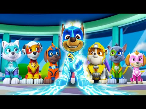 PAW Patrol Mighty Pups Save Adventure Bay - Charged Up Super Heroic Rescue Mission Nickelodeon Jr HD