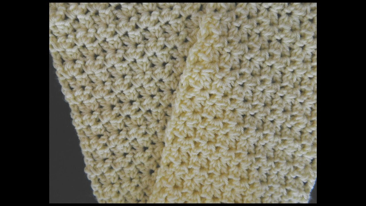 Beautiful Easy Crunch Shell Stitch Scarf Video Youtube