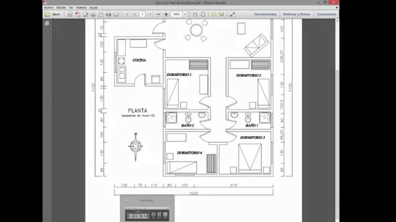 Como hacer el plano de una casa en autocad youtube for Crear plano de casa online
