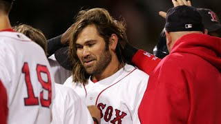 6/17/05: johnny damon delivers a walk-off single to score jason varitek and give the red sox 6-5 win over piratesabout major league baseball: lea...