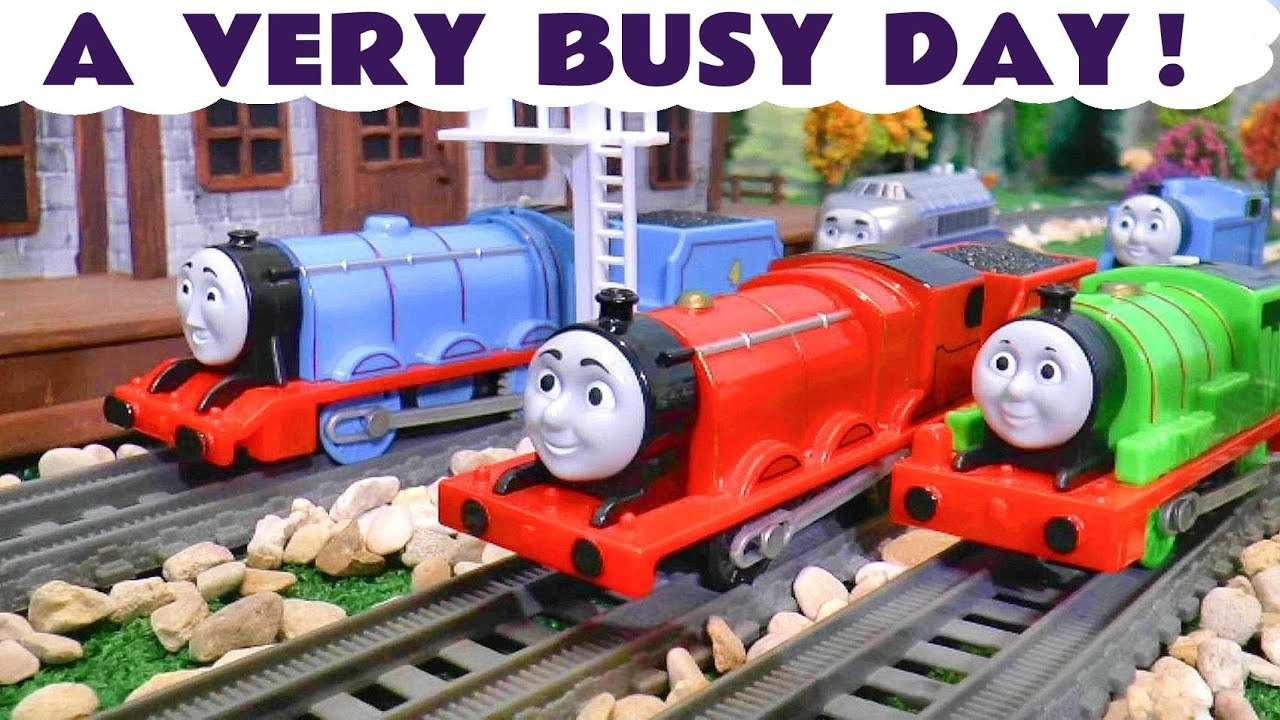 Thomas and Friends Toy Trains Episode A Busy Day with Accidents and Crashes