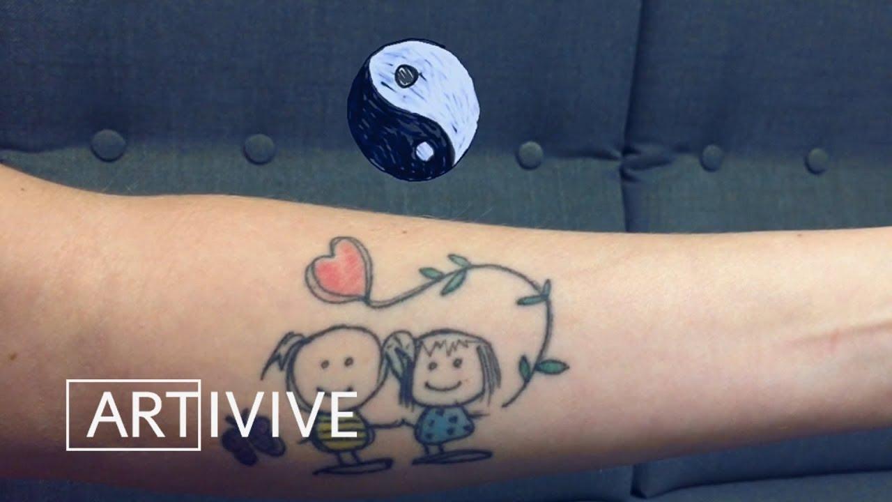 First Artivive Augmented Reality Tattoo Youtube Inilah yang dirasakan orang pembuat tato. first artivive augmented reality tattoo