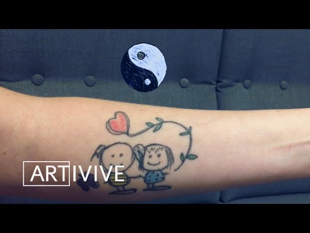 First Artivive Augmented Reality Tattoo