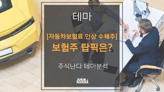 [자동차보험료 인상 수혜주] 보험주 탑픽은?