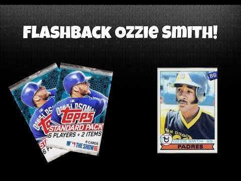 MLB THE SHOW 16 DIAMOND DYNASTY PACK OPENING - Flashback Ozzie Smith!