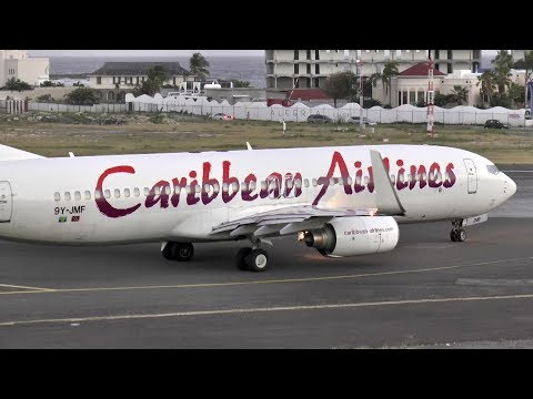 Caribbean Airlines 737 Evening Takeoff from SXM