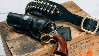 Making an Eastwood Leather Cowboy Fast Draw Holster and Belt